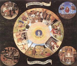 Hieronymus Bosch's The Seven Deadly Sins and the Four Last Things.