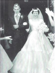 Mom and Dad on their Wedding Day, May 26, 1956 (feast day of St Philip Neri :) )